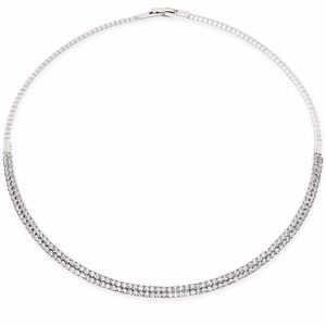 "✨ INC 16"" Crystal Silver Tone Collar Necklace"